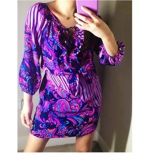 Alice & Trixie  Blouson Pink & Purple Dress Sz XS